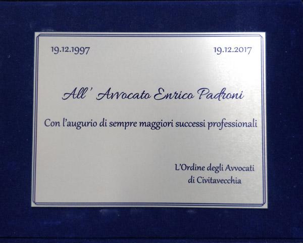 Attestato Enrico Padroni